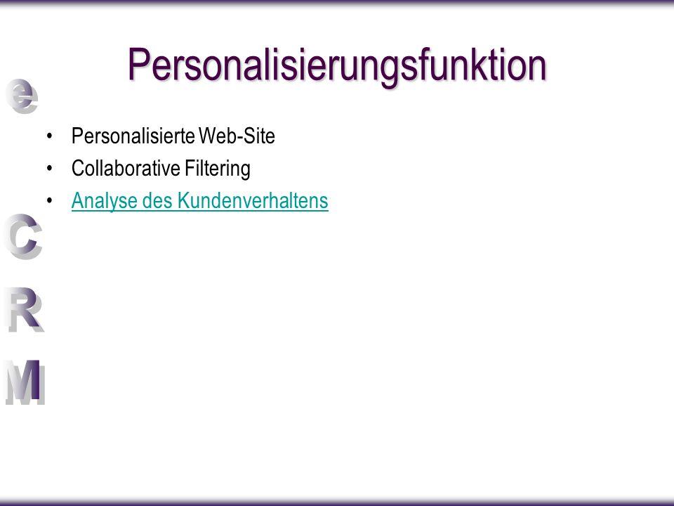 Personalisierungsfunktion