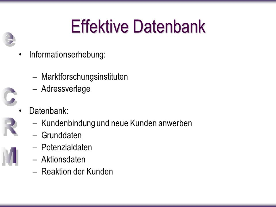 Effektive Datenbank Informationserhebung: Marktforschungsinstituten
