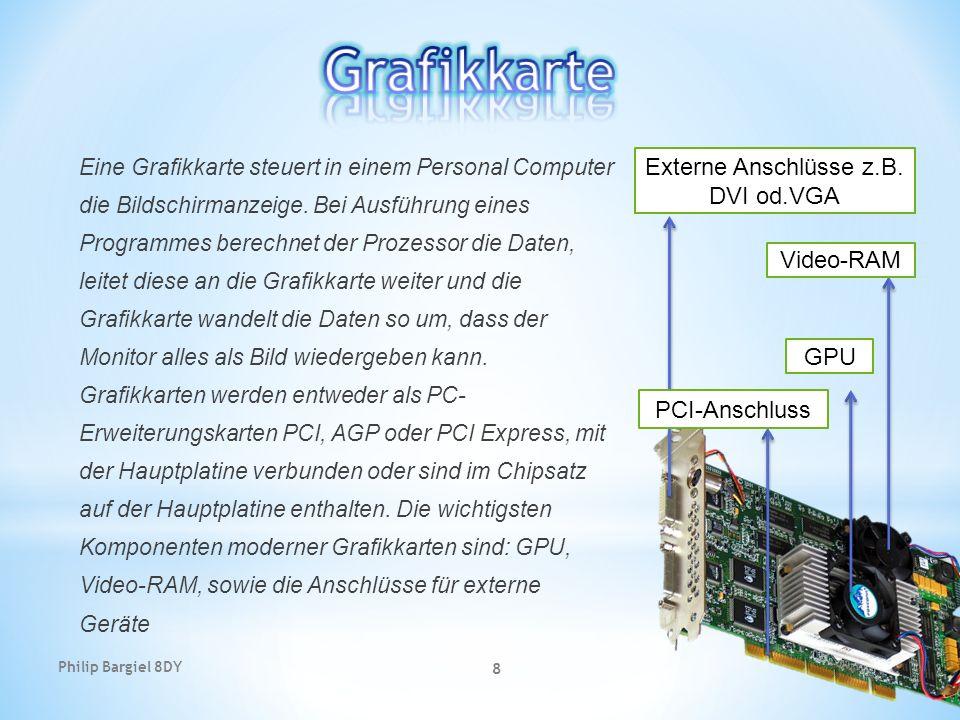 Externe Anschlüsse z.B. DVI od.VGA