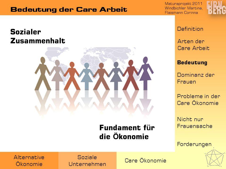Bedeutung der Care Arbeit