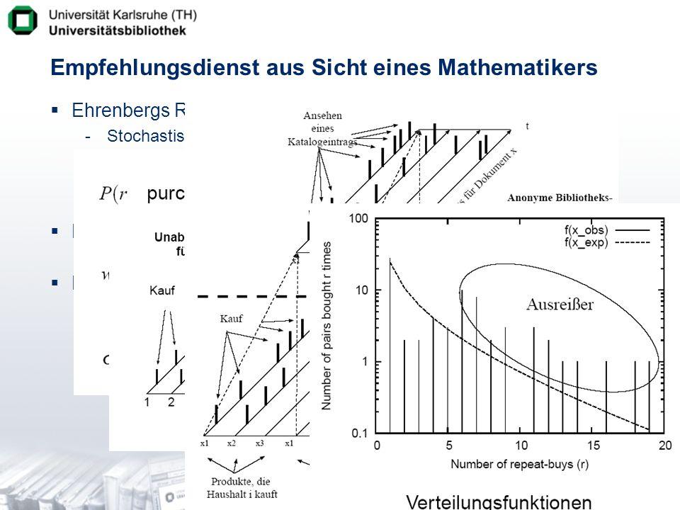 Empfehlungsdienst aus Sicht eines Mathematikers