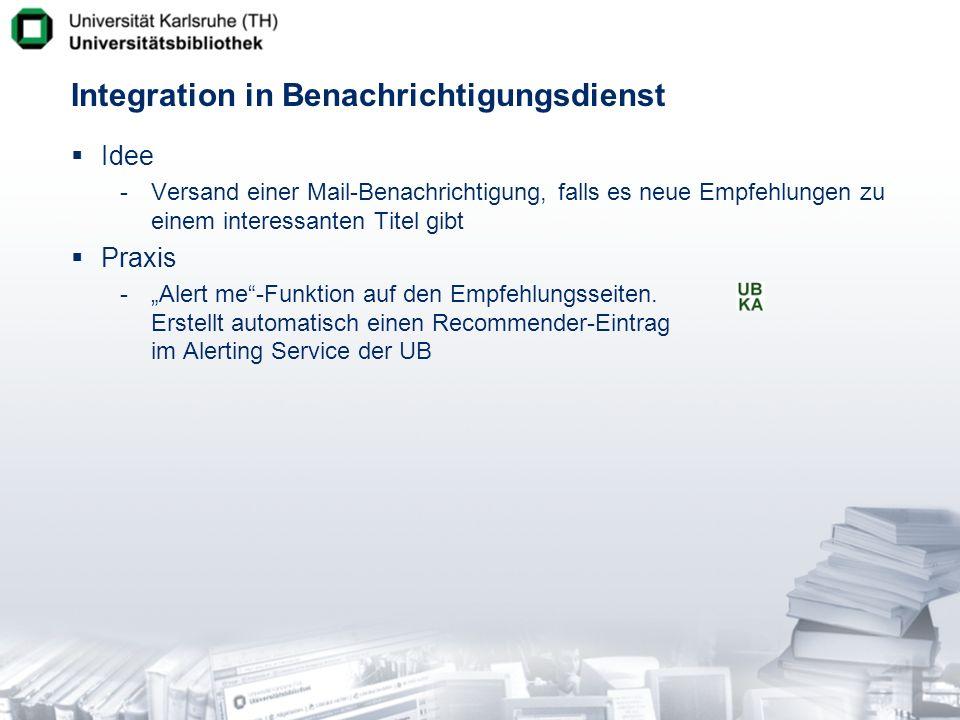 Integration in Benachrichtigungsdienst