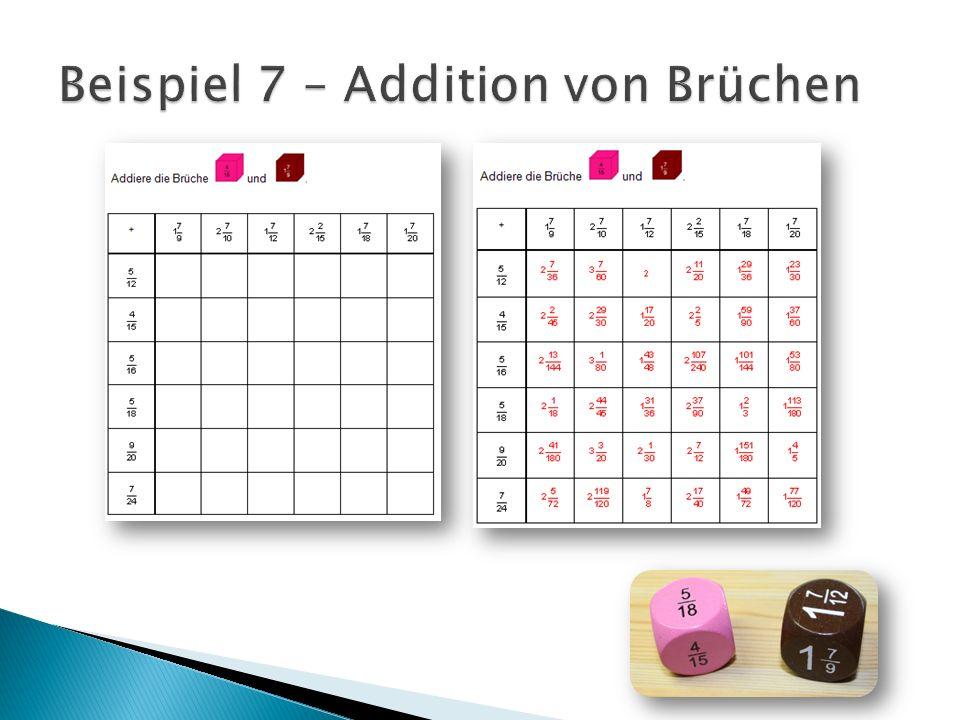 Beispiel 7 – Addition von Brüchen