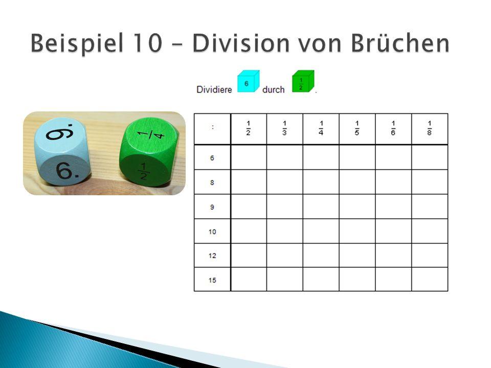 Beispiel 10 – Division von Brüchen