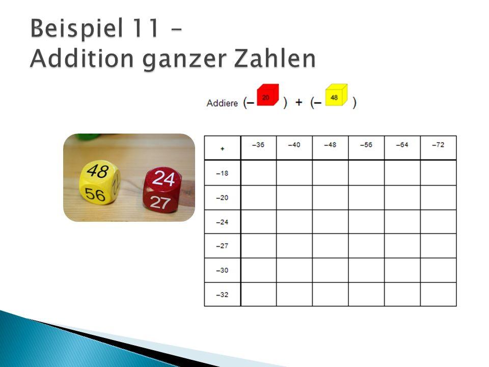 Beispiel 11 – Addition ganzer Zahlen