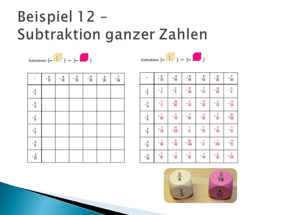 Beispiel 12 – Subtraktion ganzer Zahlen