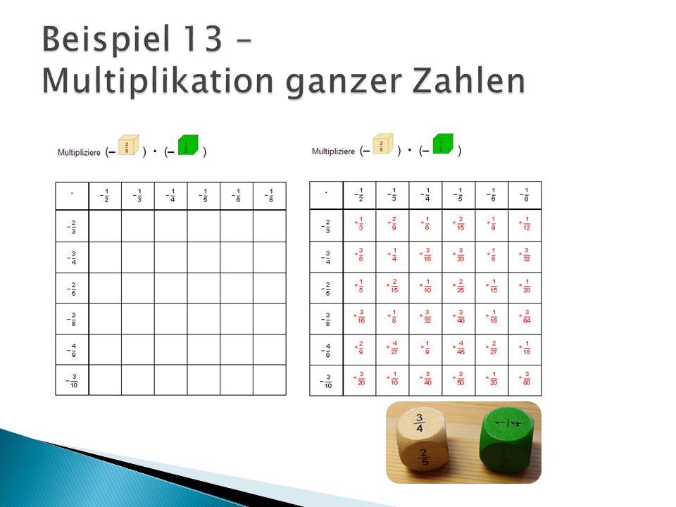 Beispiel 13 – Multiplikation ganzer Zahlen
