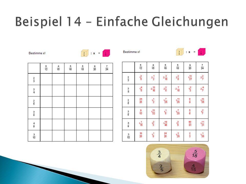 Beispiel 14 – Einfache Gleichungen