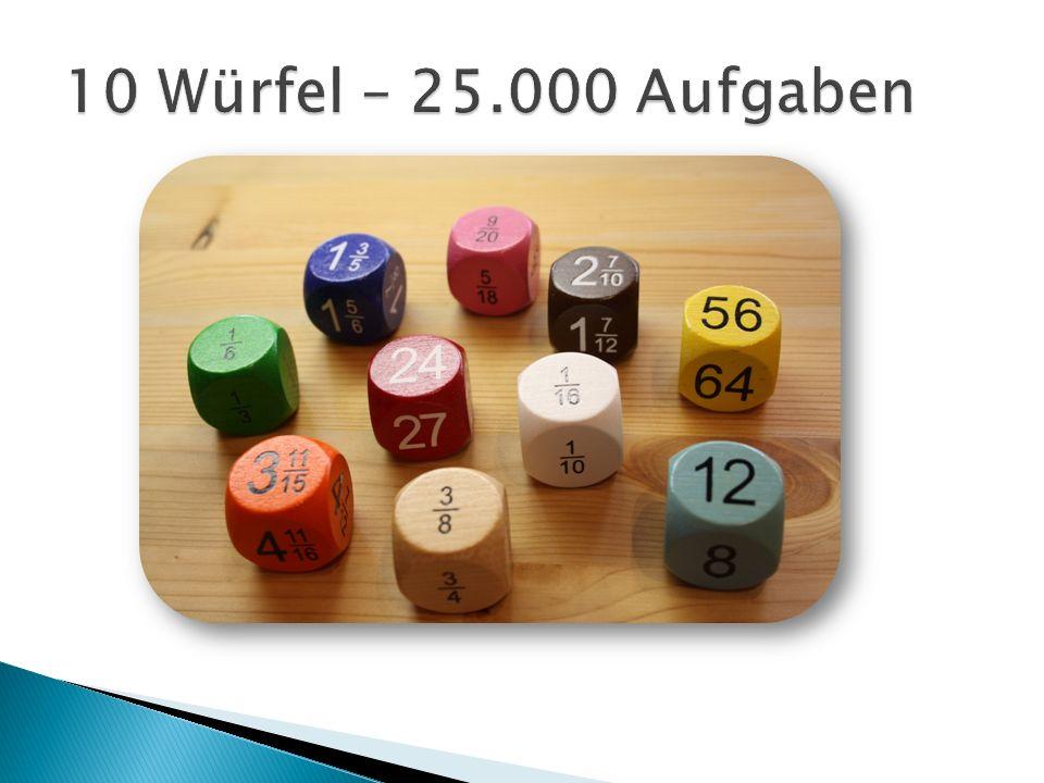 10 Würfel – 25.000 Aufgaben