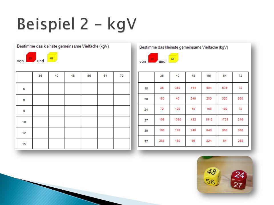 Beispiel 2 – kgV