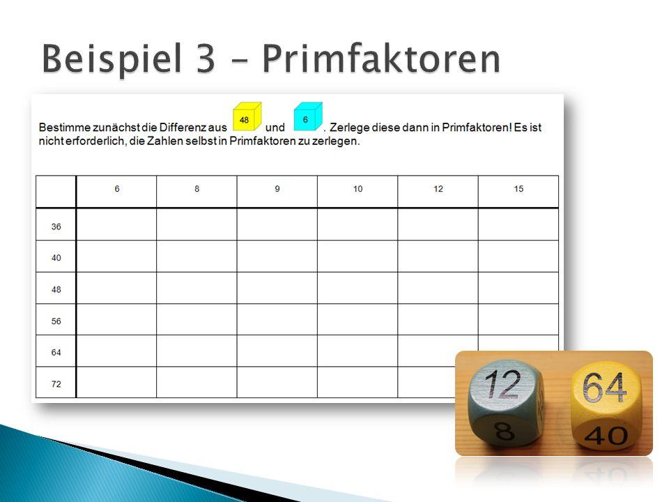 Beispiel 3 – Primfaktoren