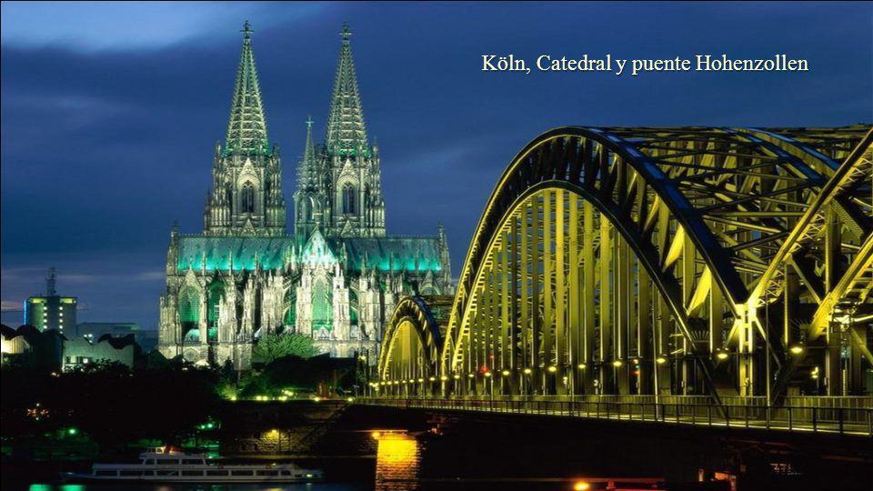 Köln, Catedral y puente Hohenzollen