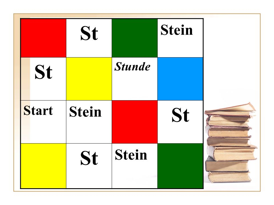 St Stein Stunde Start