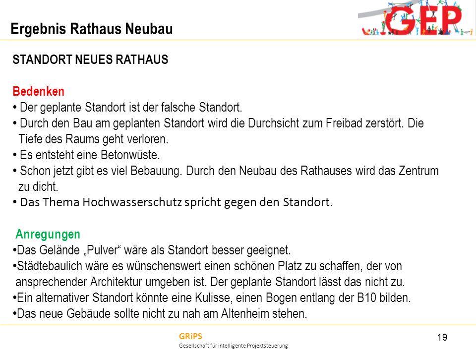 Ergebnis Rathaus Neubau