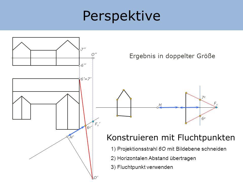 Perspektive Konstruieren mit Fluchtpunkten Ergebnis in doppelter Größe