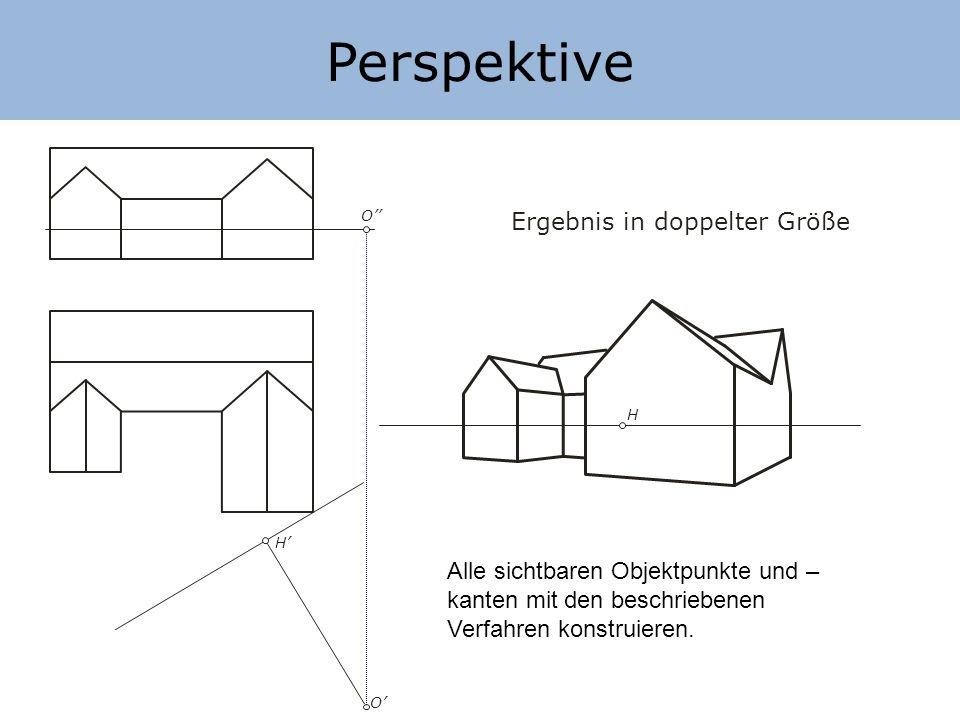 Perspektive Ergebnis in doppelter Größe