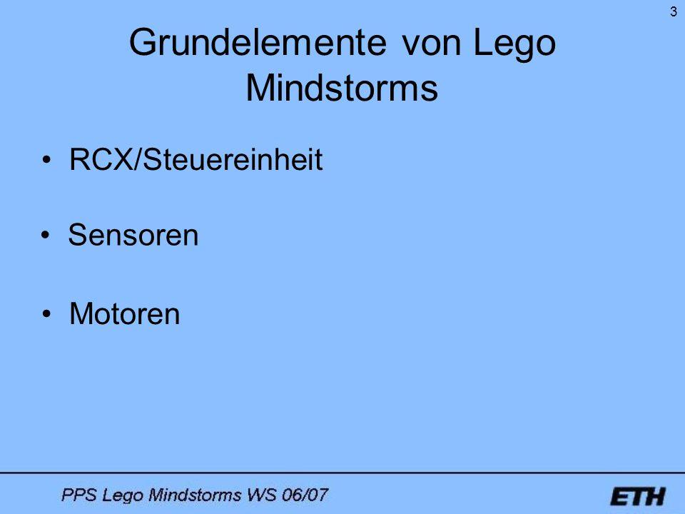 Grundelemente von Lego Mindstorms