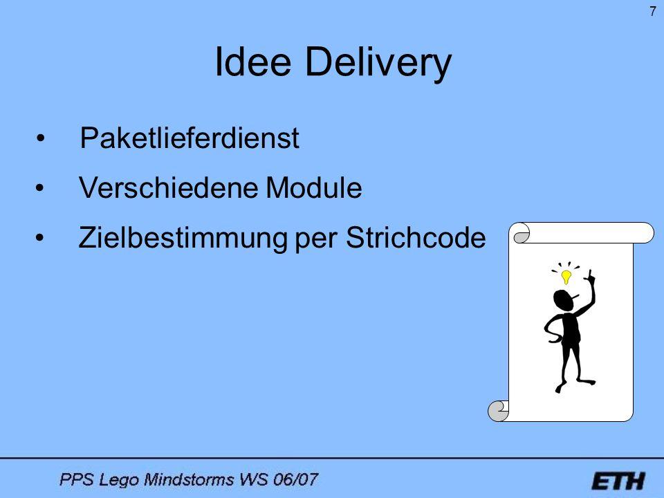 Idee Delivery Paketlieferdienst Verschiedene Module