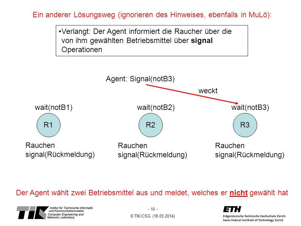 Ein anderer Lösungsweg (ignorieren des Hinweises, ebenfalls in MuLö):