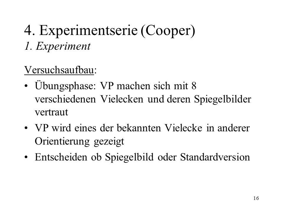 4. Experimentserie (Cooper) 1. Experiment