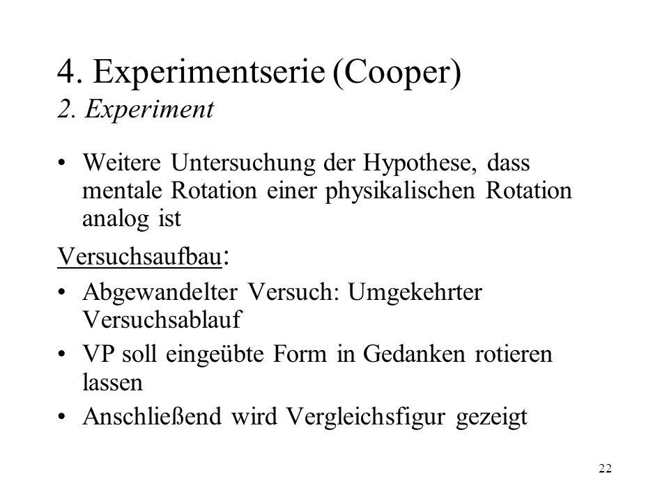 4. Experimentserie (Cooper) 2. Experiment