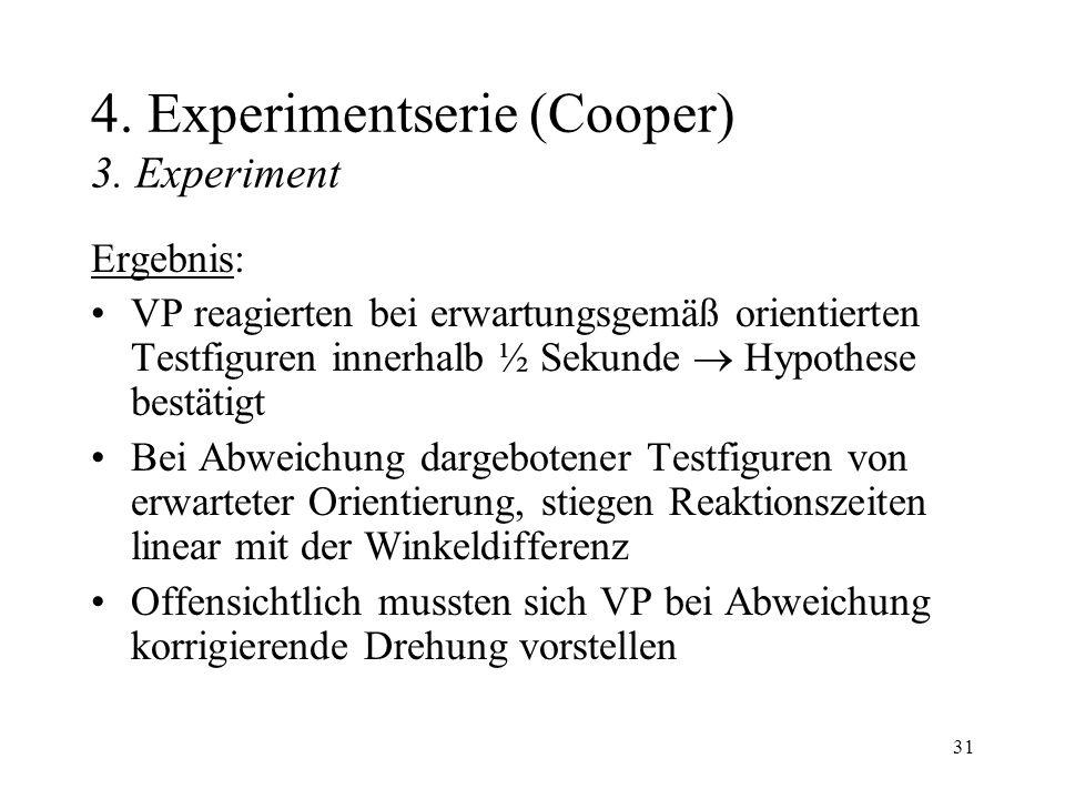 4. Experimentserie (Cooper) 3. Experiment