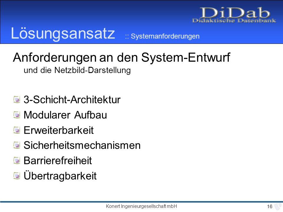 Lösungsansatz :: Systemanforderungen