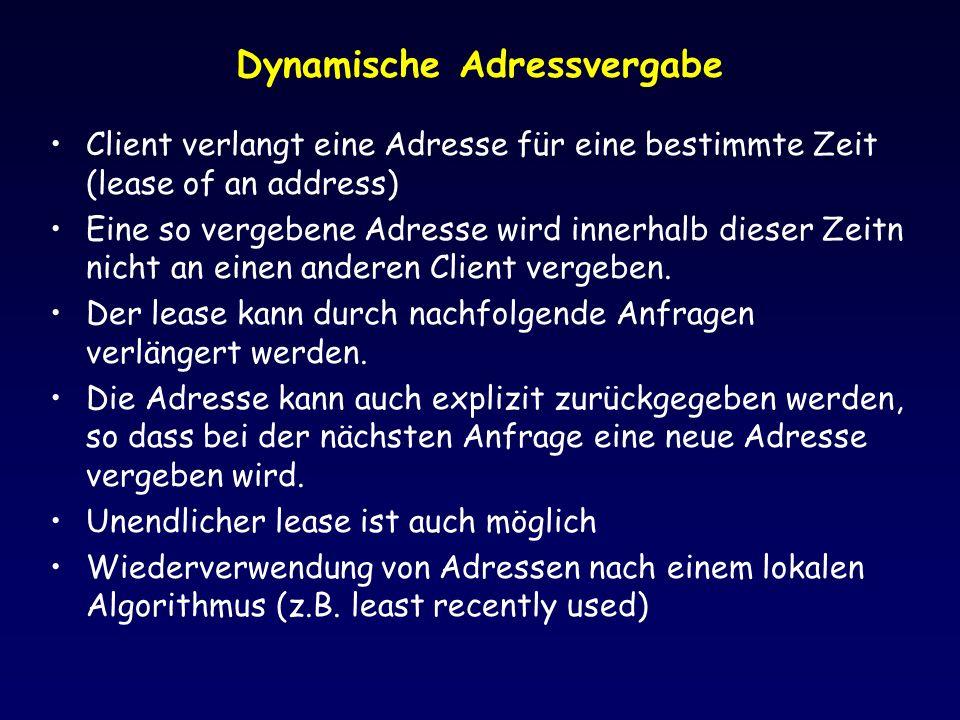 Dynamische Adressvergabe