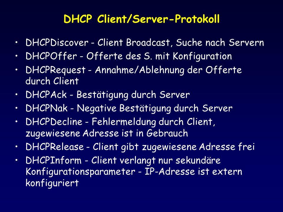 DHCP Client/Server-Protokoll