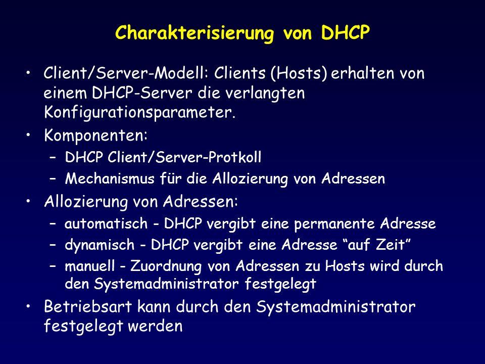 Charakterisierung von DHCP