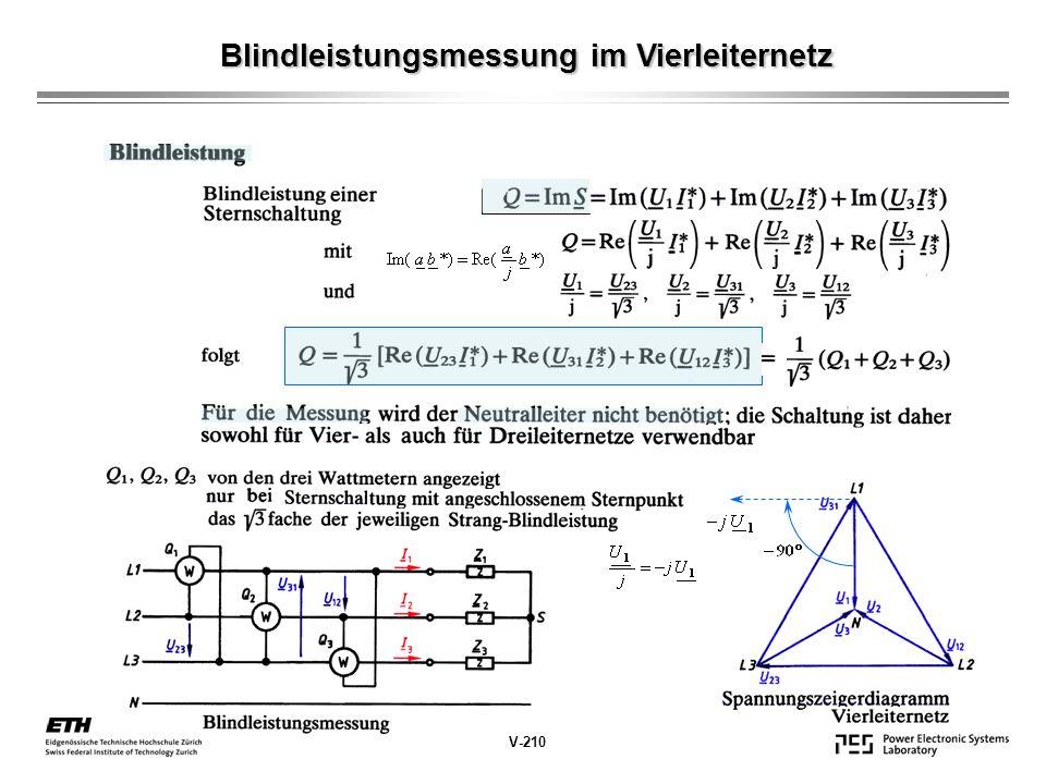 Blindleistungsmessung im Vierleiternetz