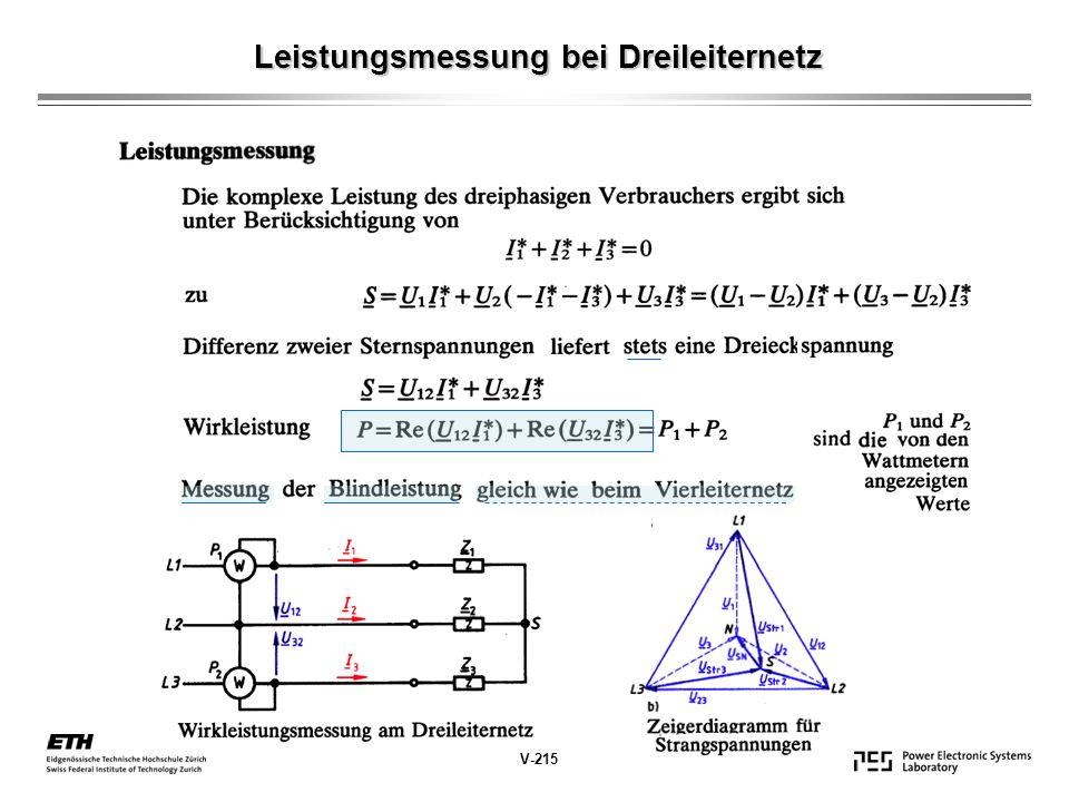 Leistungsmessung bei Dreileiternetz