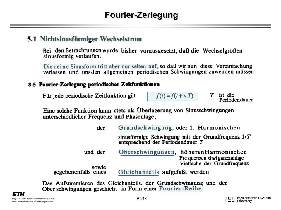 Fourier-Zerlegung V-216