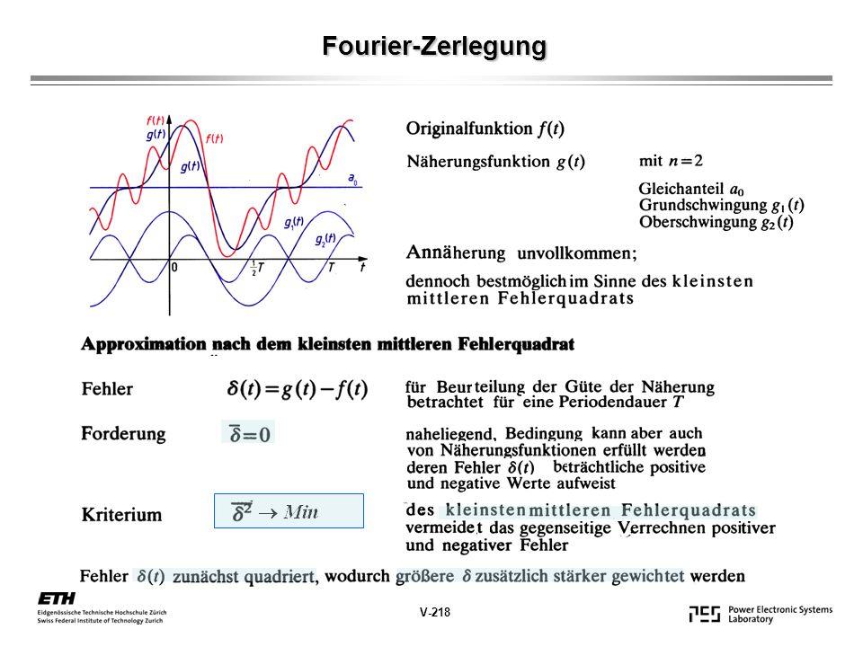 Fourier-Zerlegung V-218