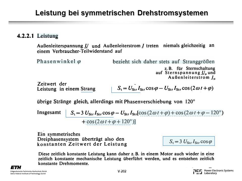 Leistung bei symmetrischen Drehstromsystemen