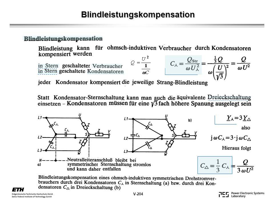 Blindleistungskompensation