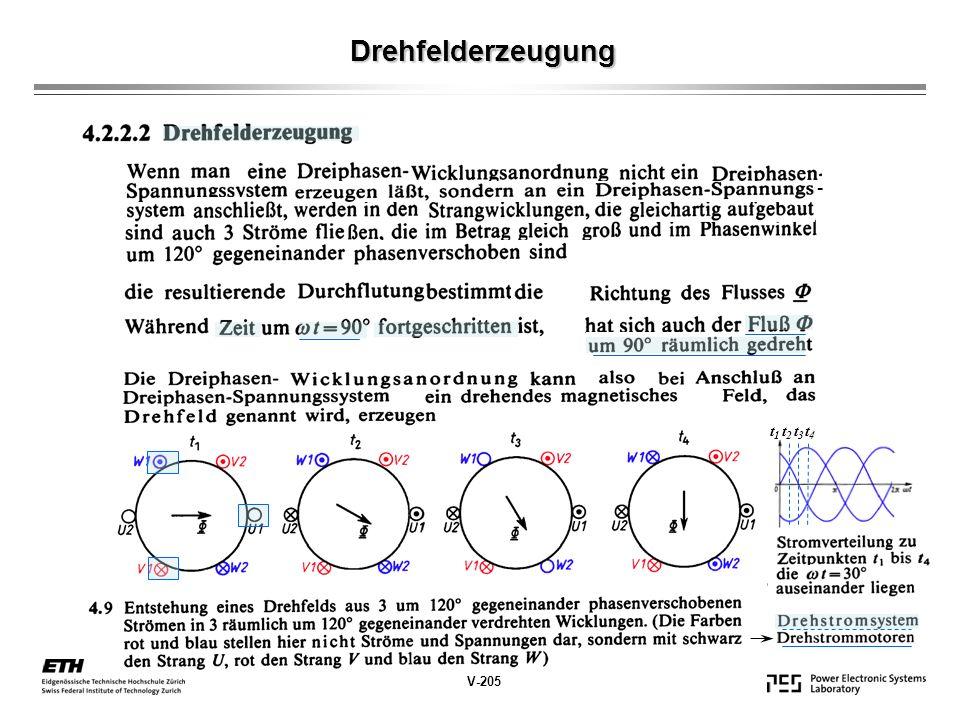 Drehfelderzeugung - t1 t2 t3 t4 V-205
