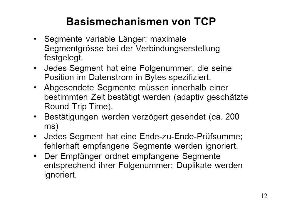 Basismechanismen von TCP