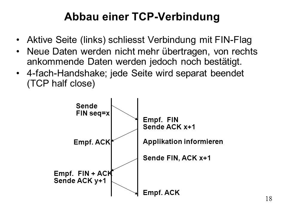 Abbau einer TCP-Verbindung