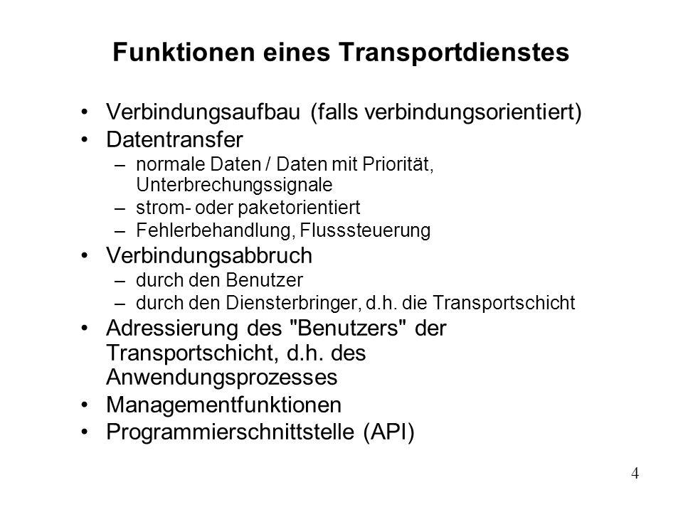 Funktionen eines Transportdienstes