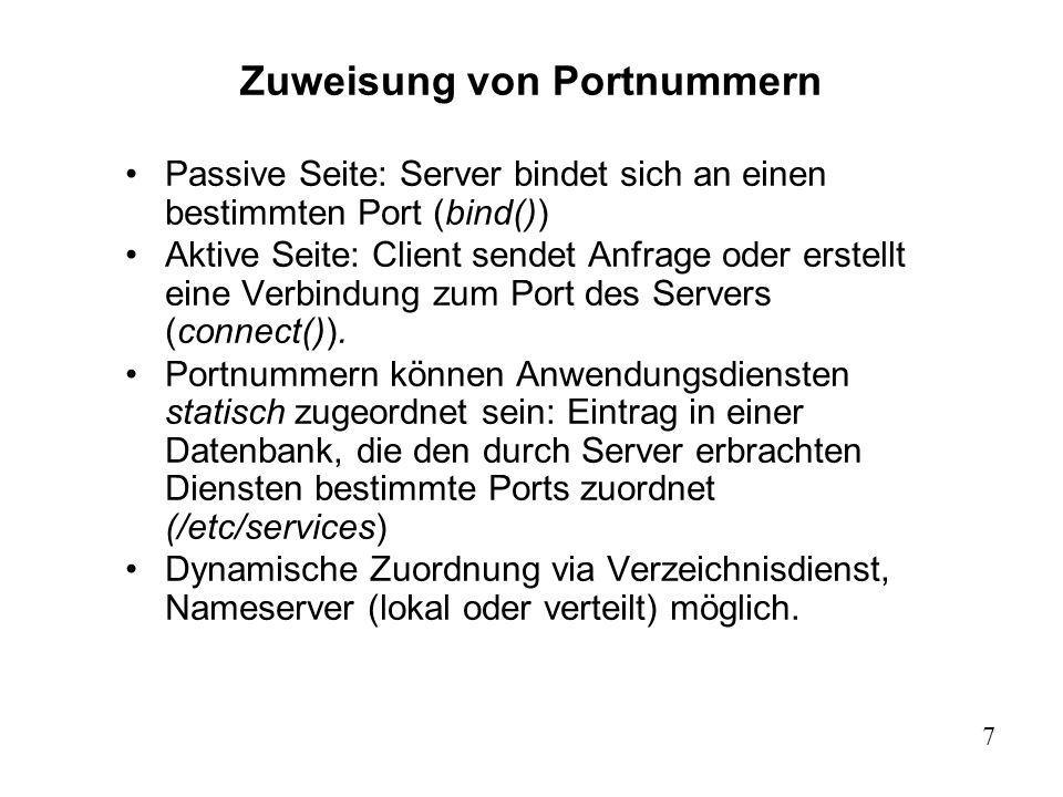 Zuweisung von Portnummern