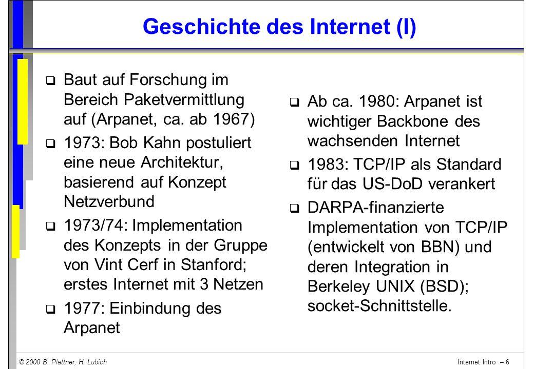 Geschichte des Internet (I)