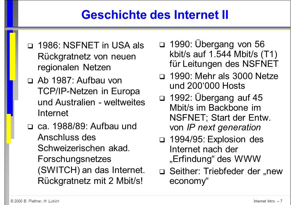Geschichte des Internet II