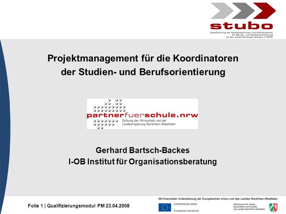Projektmanagement für die Koordinatoren