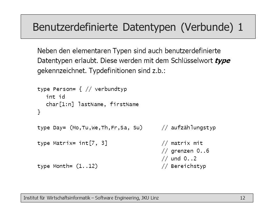 Benutzerdefinierte Datentypen (Verbunde) 1