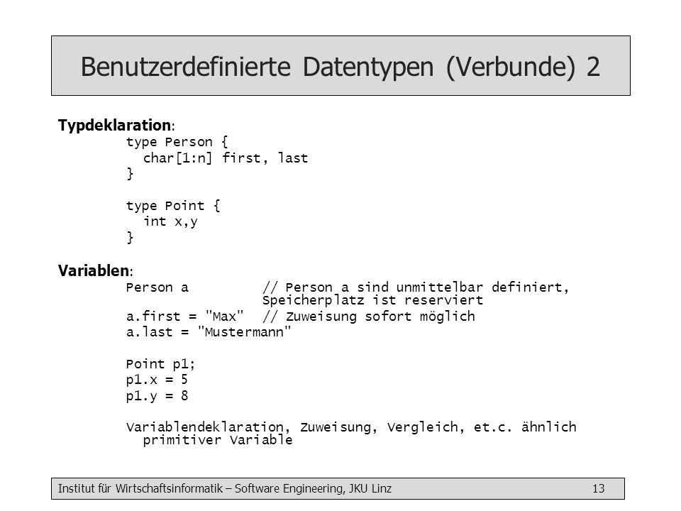 Benutzerdefinierte Datentypen (Verbunde) 2