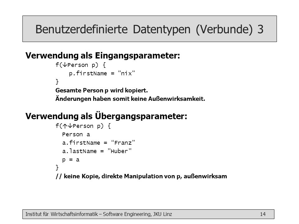 Benutzerdefinierte Datentypen (Verbunde) 3