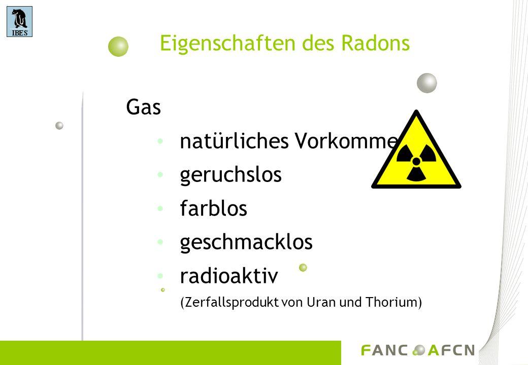 Eigenschaften des Radons