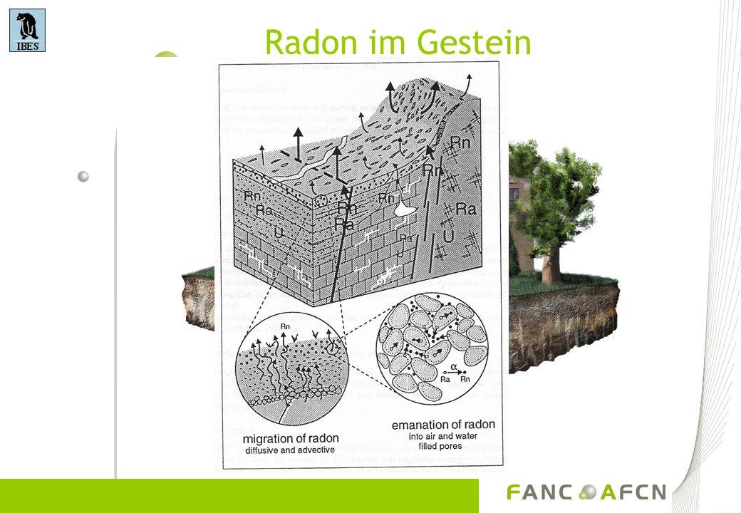 Radon im Gestein