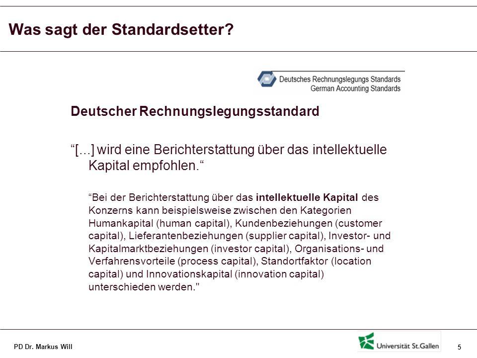 Was sagt der Standardsetter in der Schweiz